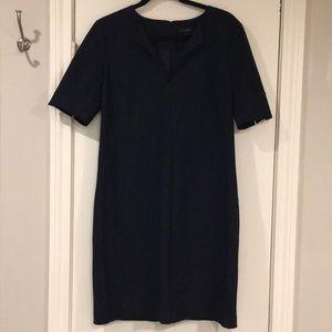 Ann Taylor Blue V-Neck Sheath Dress - Size 6